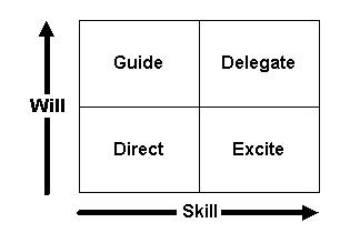 Skill Will Matrix, management style,